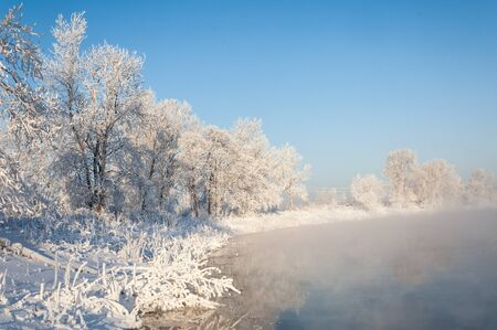 River winter in Russia  Tatarstan Kama Stock Photo - 17075026