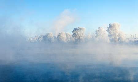 River winter in Russia  Tatarstan Kama Stock Photo - 17088657