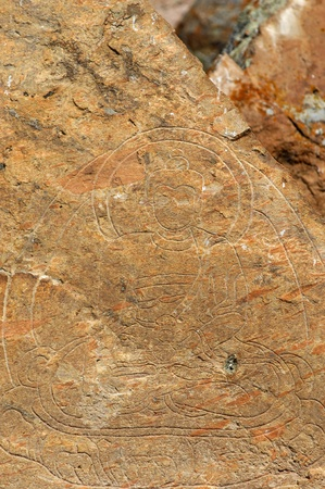 Petroglyphs Tamgaly-Tas, four thousand drawings, which date back to the Bronze Age. photo