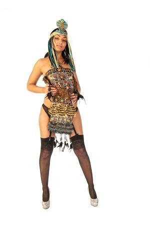girl dressed as Apache photo