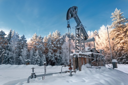 Rocking oil, Frosty Morning photo
