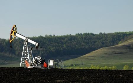Oil rocking spring. Tatarstan, Russia Stock Photo - 18130107