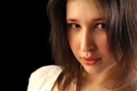 The girl in the studio, high spirits Standard-Bild