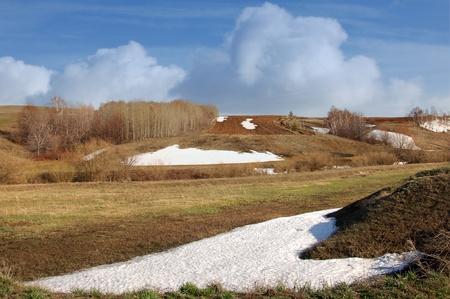 Last spring snow Stock Photo - 18622156