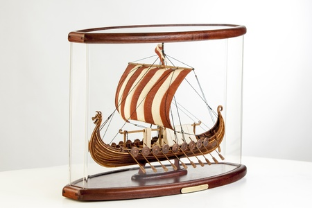 model of a Viking ship photo