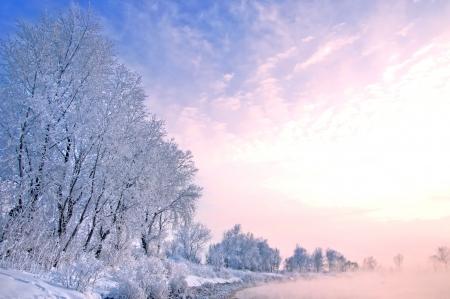 winter wonderland: Inverno fiume in Russia. Tatarstan Kama