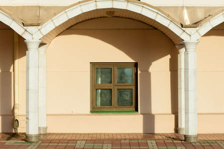 magic window. Classic window frame. Close-up shot  wooden window. Stock Photo - 23669653
