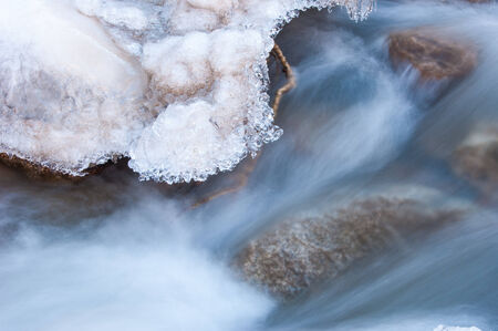 River ice. river in winter. winter creek. Stock Photo - 25070991