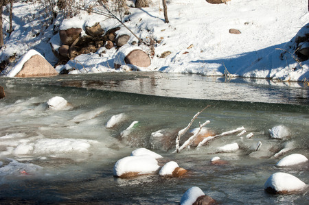 River ice. river in winter. winter creek. Stock Photo - 25162505