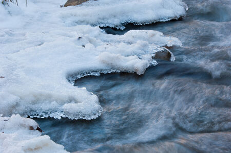 River ice. river in winter. winter creek. Stock Photo - 25228517