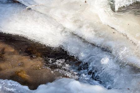 River ice. river in winter. winter creek. Stock Photo - 25623119