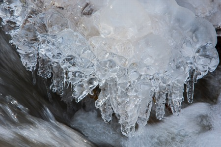 coldness: Ice on the river in the Spring.  southern Kazakhstan.