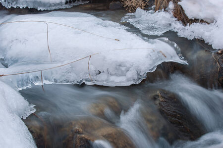 Ice on the river in the Spring.  southern Kazakhstan.  photo