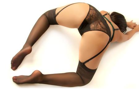 mujeres desnudas: Booty tomada en un estudio de luz lateral, luz de relleno