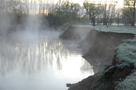 tributary: River  Ili in Kazakhstan. Stock Photo