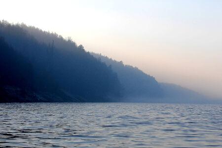 hydrological: River Ili in Kazakhstan.