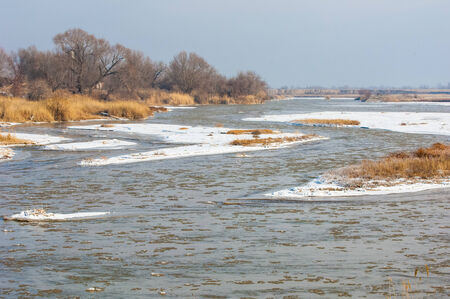 River in late autumn. photo
