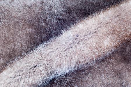 nerts: Nertsen bont textuur. Nerts jas in de studio gefotografeerd Stockfoto