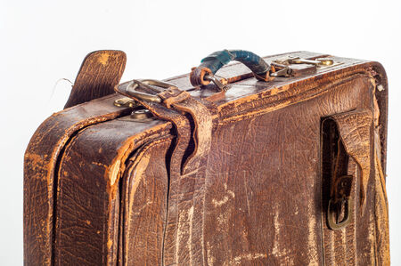 valise: old suitcase. texture.  suitcase, bag, trunk, case, handbag, valise