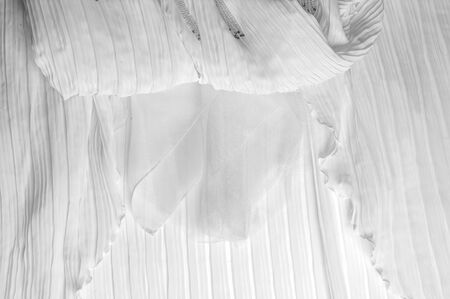 transparent dress: fabric, material, texture. Fabric photographed in the studio Stock Photo