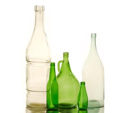 botellas vacias: botellas vac�as. Fotos en estudio