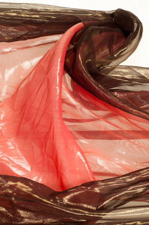 pink brown: Pink brown transparent fabric. texture. robe.   Photographed in the studio