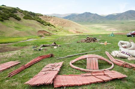 Kazakhstan in July 2014 construction of the yurt. a circular tent of felt or skins & Mountain Yurt. Turgenu0027 Gorge. Kazakhstan. Tien Shan . A Circular ...