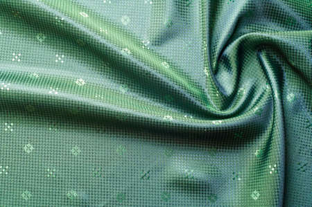 patterned: Fabric colors green, patterned. Photography Studio