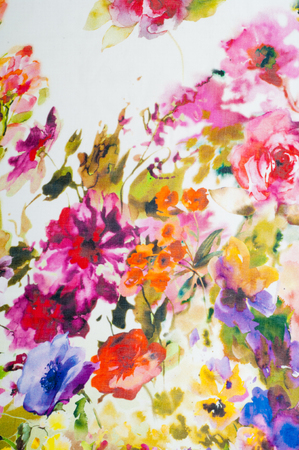 Silk fabric texture. flowers    Photography Studio photo