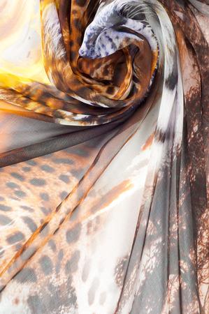 photography studio: Silk fabric texture. Tiger safari.   Photography Studio Stock Photo