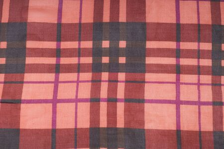 chequered ribbon: Silk fabric texture. red cell.   Photography Studio