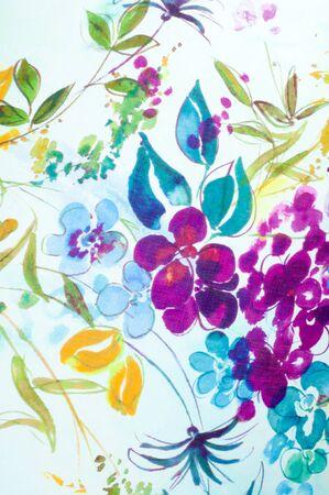 hand woven: Silk fabric texture. flowers    Photography Studio