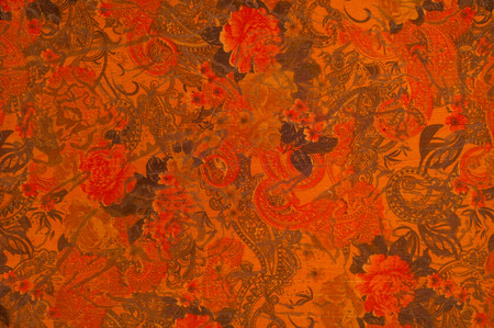 red rose background: Red fabric texture with flowers roses.  Photography Studio