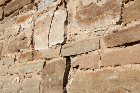 alluvial: Texture. Wall lined with stone wild.  Wild sandstone