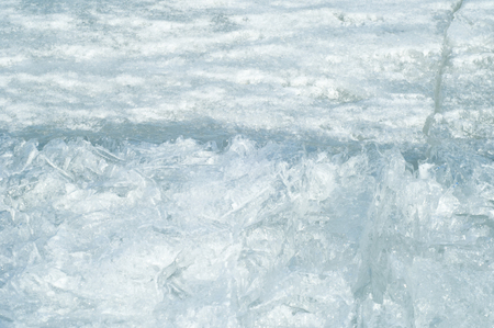 crazing: texture.  ice. Frozen ice on the river.