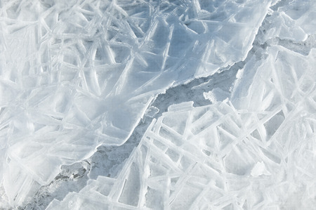 texture.  ice. Frozen ice on the river. photo