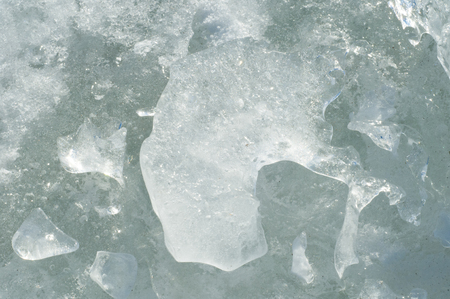 baical: texture.  ice. Frozen ice on the river.