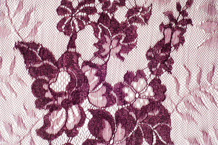 needle lace: Texture lace fabric.