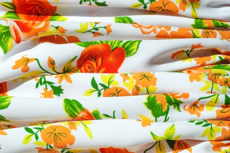 Cotton fabric texture flowers. fabric Baptiste. batiste, cambric, lawn. a fine, light linen or cotton fabric resembling cambric. photo