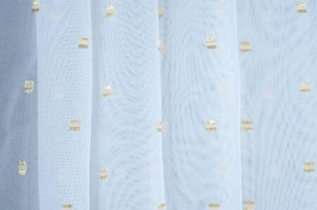 accents: Silk fabric texture, white with gold accents