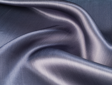 cerulean: Fabric silk texture of dark blue, Navy. Stock Photo