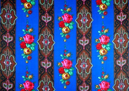dark blue: Fabric silk texture of dark blue, Navy. Stock Photo
