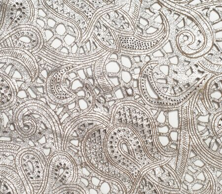 tooled: the texture of the skin with embossed floral pattern. abstract vintage leather floral pattern. Leather floral pattern background. Stock Photo