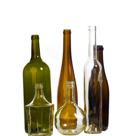 botellas vacias: Texture of empty bottles.
