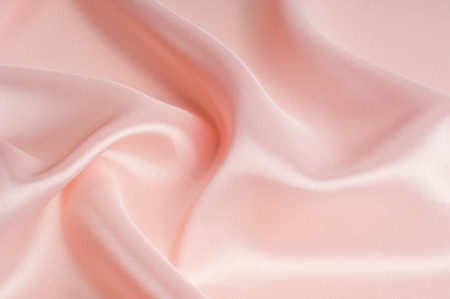 Fabric silk texture pink. rose-color, rose-colour, rose.