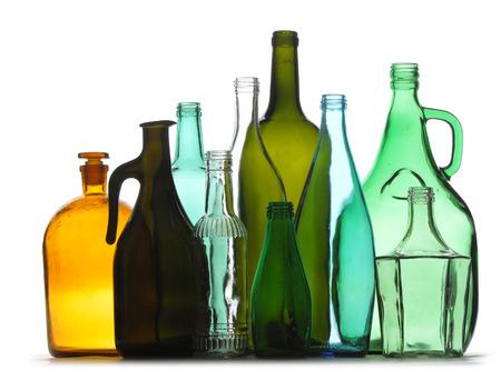 botellas vacias: Texture of empty bottles