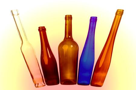 botellas vacias: Textura de botellas vacías Foto de archivo
