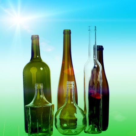 botellas vacias: Textura de botellas vac�as.
