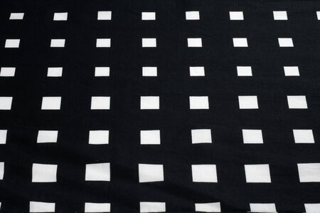 lining: Batiste fabric texture. Checkered black and white dice