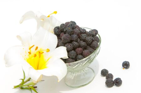black raspberries: Black raspberries.